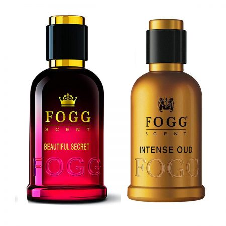 Fogg Scent BEAUTIFUL SECRET & INTENSE OUD Eau de Parfum-100ml (Pack of 2)
