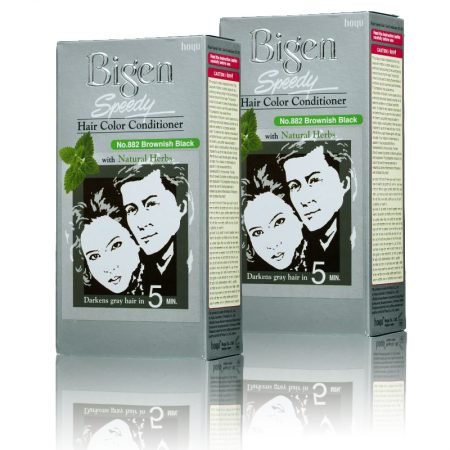 Bigen No. 882 Brownish Black Hair Color (Pack of 2)