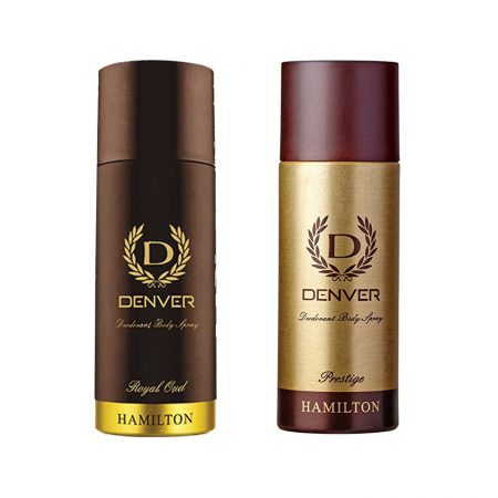 Denver PRESTIGE & ROYAL OUD Body Spray (Pack of 2)