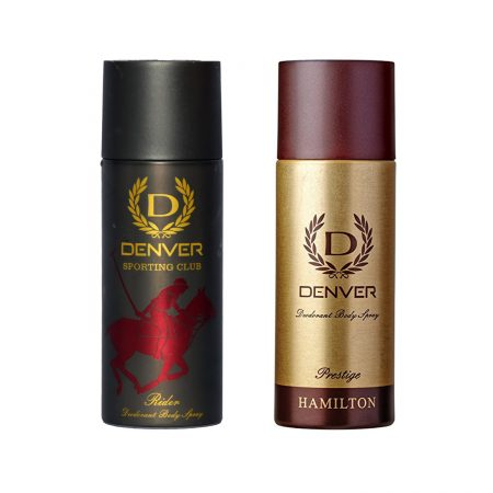 Denver PRESTIGE  & RIDER Body Spray (Pack of 2)