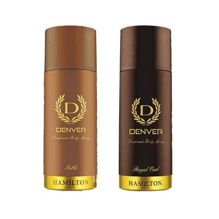 Denver ROYAL OUD & NOBLE Body Spray (Pack of 2)