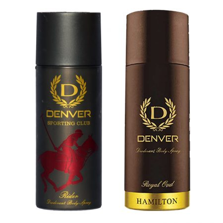 Denver RIDER & ROYAL OUD Body Spray (Pack of 2)