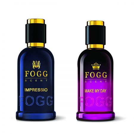 Fogg Scent IMPRESSIO & MAKE MY DAY Eau de Parfum -100ml (Pack of 2)