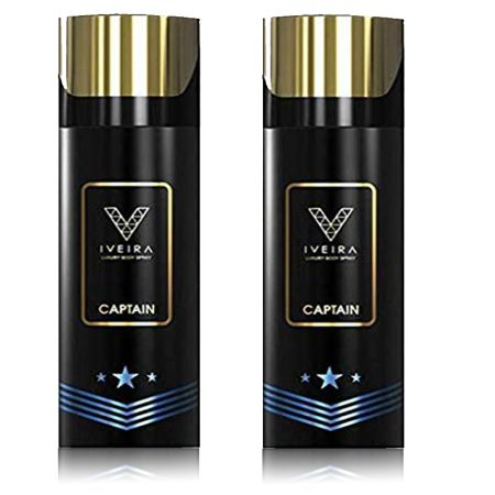 Iveira Captain Deodorant Spray 165ml (Pack of 2)