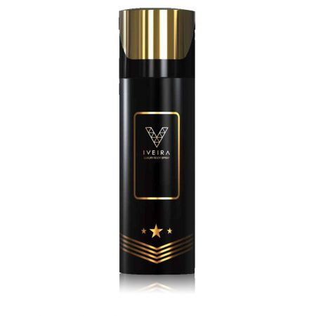 Iveira Italiano Black Deodorant Spray For Men (165ml)