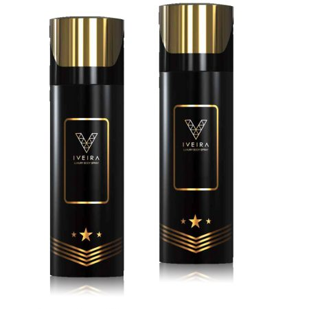 Iveira Italiano Black Deodorant Spray 165ml (pack of 2)