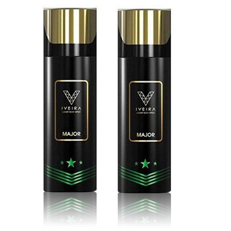IVEIRA Major Luxury Body Spray 165ml (Pack of 2)