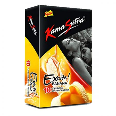 Kamasutra Aloe and Vitamin E Lubricant & Excite Series Banana Dotted Condom's
