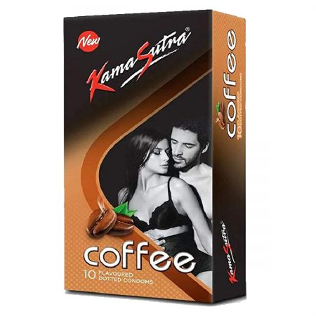 KamaSutra Coffee Flavoured, Dotted Condoms 10's