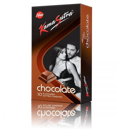 KamaSutra Dotted Condom, Chocolate, 10s