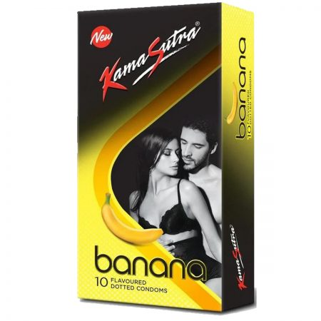 Kamasutra Banana Dotted Condoms & Long Last Spray For Men (12g)