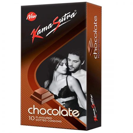 Kamasutra Chocolate Dotted Condoms & Long Last Spray For Men (12g)