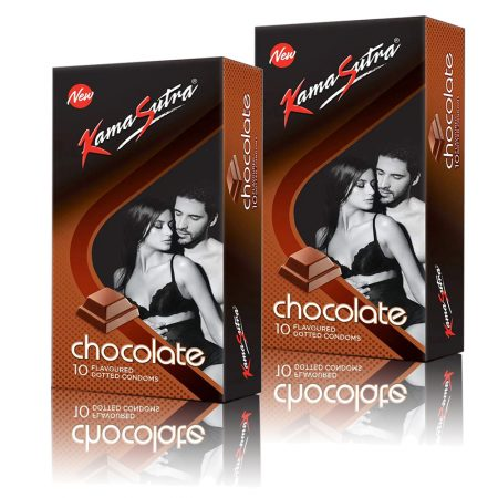 Kamasutra Chocolate Dotted Condom 10's (Pack of 2)