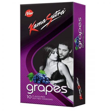 KamaSutra Dotted Condom, Grapes, 10s