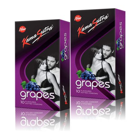 Kamasutra Grapes Dotted Condom 10's (Pack of 2)