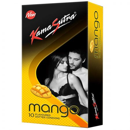 Kamasutra Mango Dotted Condoms & Long Last Spray For Men (12g)