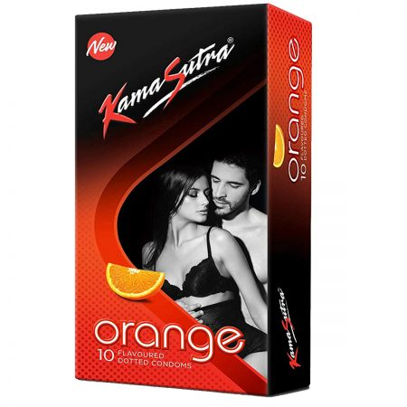 Kamasutra Aloe and Vitamin E Lubricant & Orange Dotted Condom's