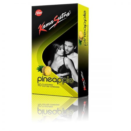 Kamasutra Strawberry Lubricant & Pineapple Dotted Condom's