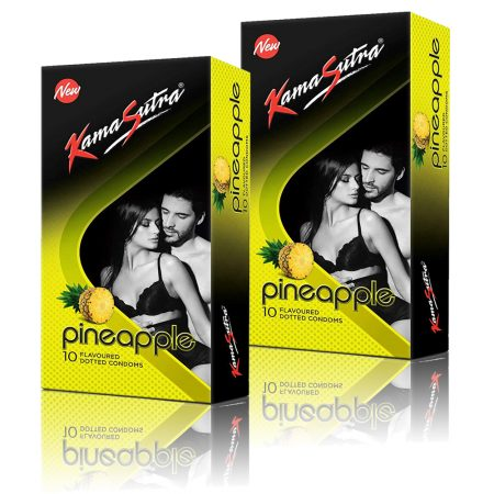 Kamasutra Pineapple Dotted Condom 10's (Pack of 2)