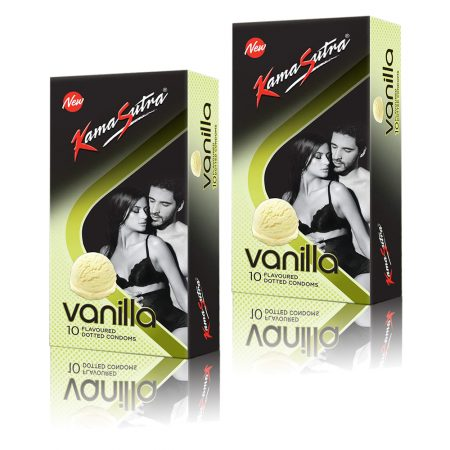 Kamasutra Vanilla Dotted Condom 10's (Pack of 2)