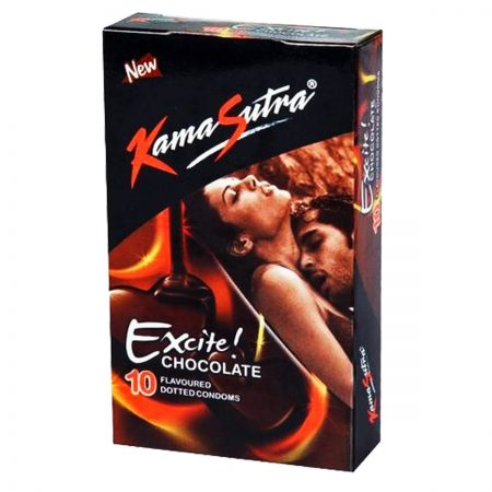 Kamasutra Excite Series Chocolate Flavoured Condoms 10s