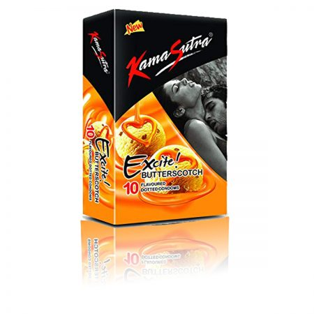 Kamasutra Excite Series Condoms, Butterscotch Flavoured-10s