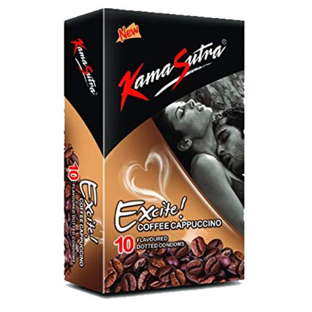 Kamasutra Aloe and Vitamin E Lubricant & Excite Series Coffee Cappuccino Dotted Condom's