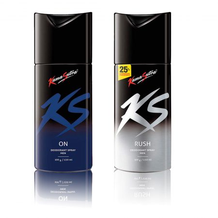 Kamasutra ON & RUSH Deodorant Spray 150ml (Pack of 2)