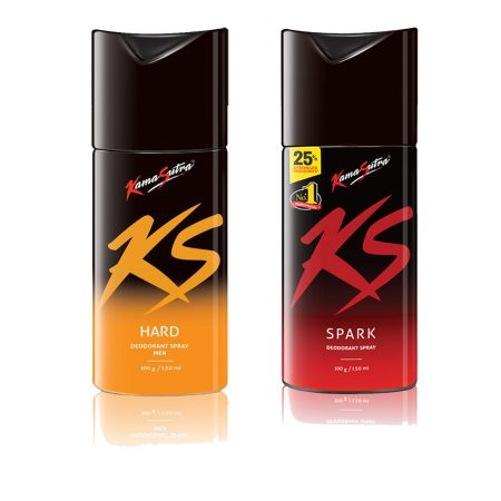 Kamasutra SPARK & HARD Deodorant Spray 150ml (Pack of 2)