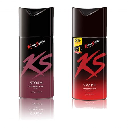 Kamasutra SPARK & STORM Deodorant Spray 150ml (Pack of 2)