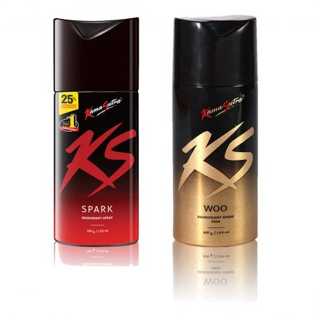 Kamasutra SPARK & WOO Deodorant Spray 150ml (Pack of 2)