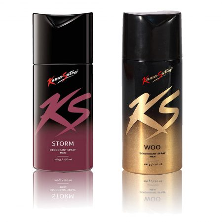 Kamasutra STORM & WOO Deodorant Spray 150ml (Pack of 2)