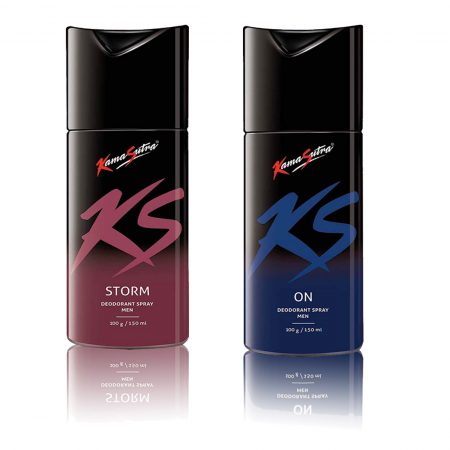 Kamasutra STORM & ON Deodorant Spray 150ml (Pack of 2)