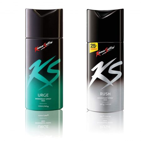Kamasutra URGE & RUSH Deodorant Spray 150ml (Pack of 2)