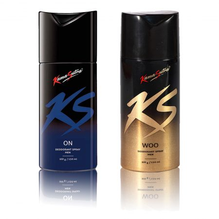 Kamasutra WOO & ON Deodorant Spray 150ml (Pack of 2)
