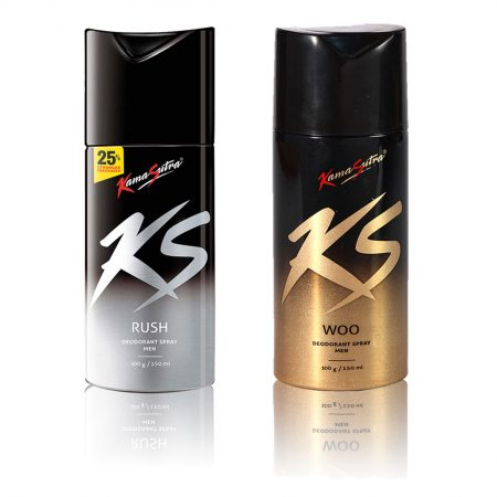 Kamasutra WOO & RUSH Deodorant Spray 150ml (Pack of 2)