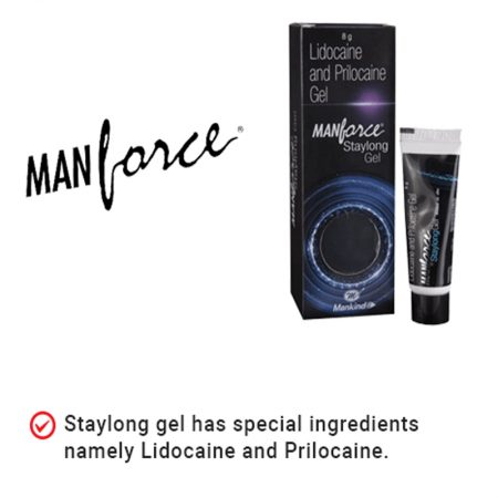 Manforce Staylong Gel Lubricant 8gm Pack of 3