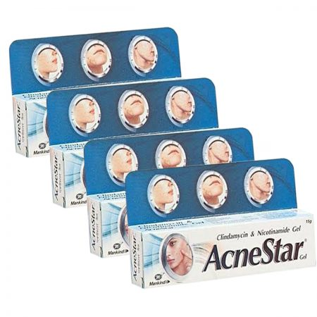 Mankind acnestar removal gel  15gm (Pack of 4)