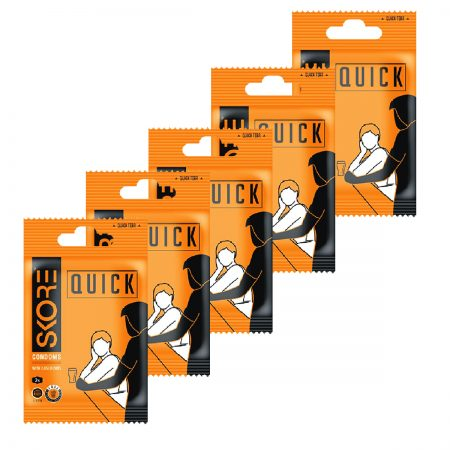 Skore quick condoms – 2 Pieces Packet (Pack of 5)