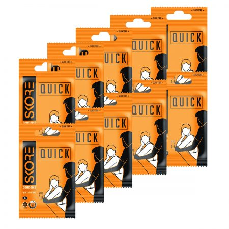 Skore quick condoms – 2 Pieces Packet (Pack of 10)