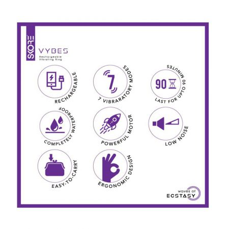 Skore Vybes Rechargeable Vibrating Ring for Him & Her