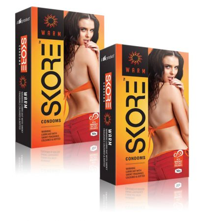 Skore Warm Flavoured Condoms 10's (Pack of 2)