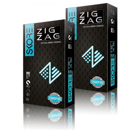 Skore Zig Zag  Condoms 10s (Pack of 2)