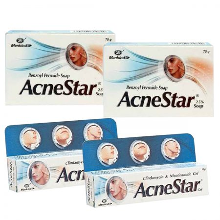 Mankind Acnestar Soap & Removal Gel (pack of 4)