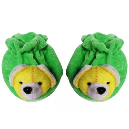 Baby Dreams Baby Booties-Animal Faces (Green)