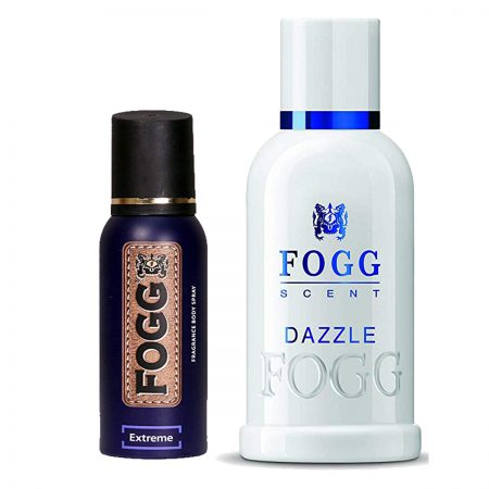 Fogg Dazzle & Extreme Parfum for Men (Pack of 2)
