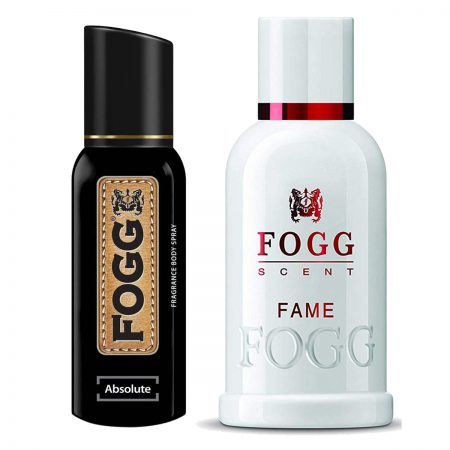 Fogg Fame & Absolute Parfum for Men (Pack of 2)