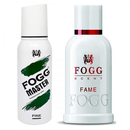 Fogg Fame & Pine Parfum for Men (Pack of 2)