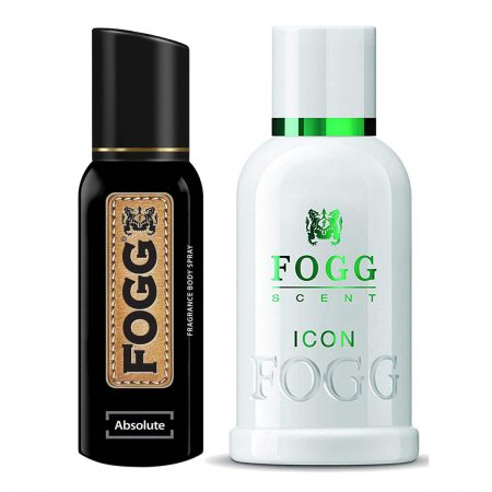 Fogg Absolute & Icon Parfum for Men (Pack of 2)