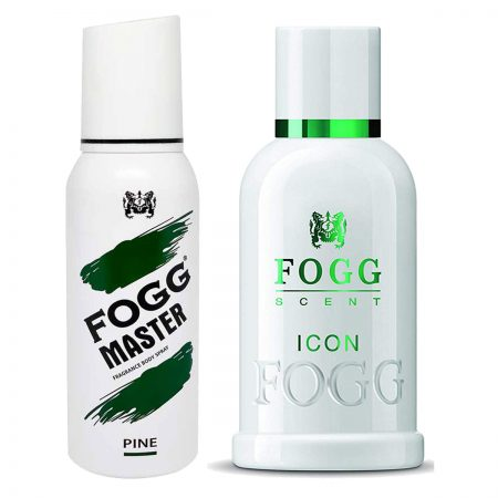 Fogg Pine & Icon Parfum for Men (Pack of 2)